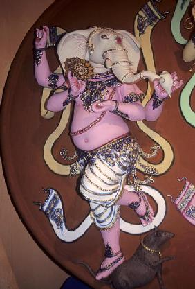 Idol of the Elephant headed god Ganesh (plaster)