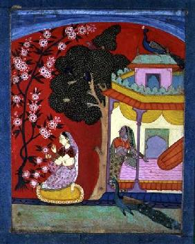 A Lady Plucking Blossoms, Southern Rajasthan or Deccan