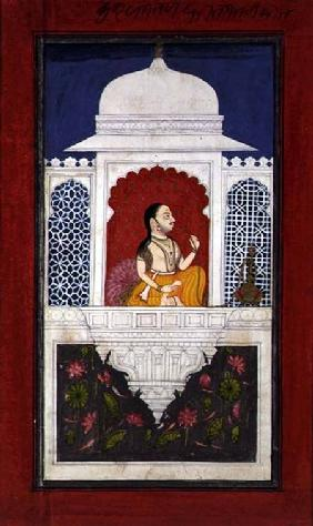 Prince Sagat Singh Seated Above a Lotus Pond