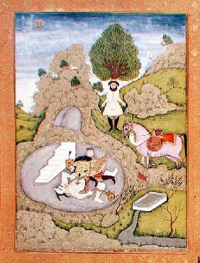Rustam killing the White Demon, from the 'Shahnama' (Book of Kings), by Abu'l-Qasim Manur Firdawsi (