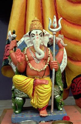 Statue of Ganesh, the Elephant God, Enthroned