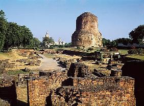 The Dhamekh stupa, c.500 AD