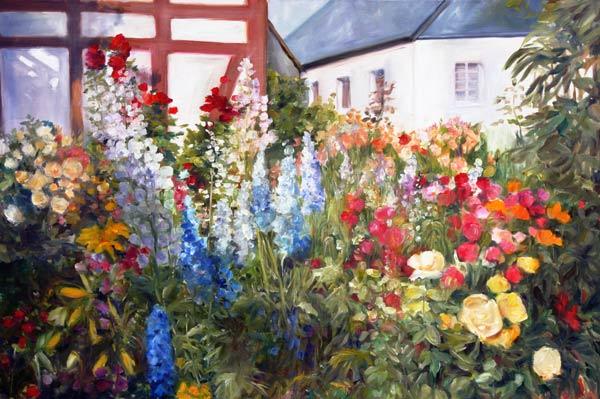 Bilder Blumengarten blumengarten ingeborg kuhn as print or painted