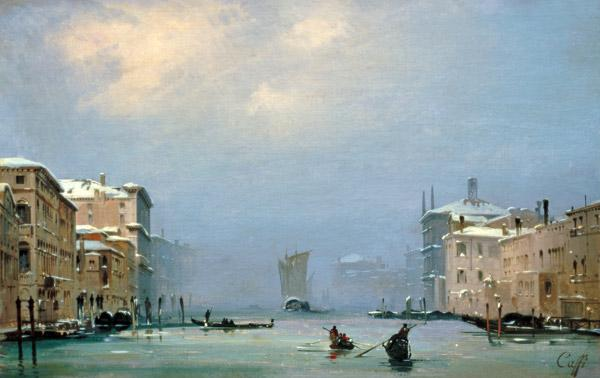 Venice, Canale Grande/ Painting by Caffi