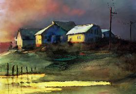 catching the last of the day's sunlight