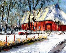Winter on cabbage sand