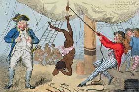 The Abolition of the Slave Trade, 1792 (coloured etching)