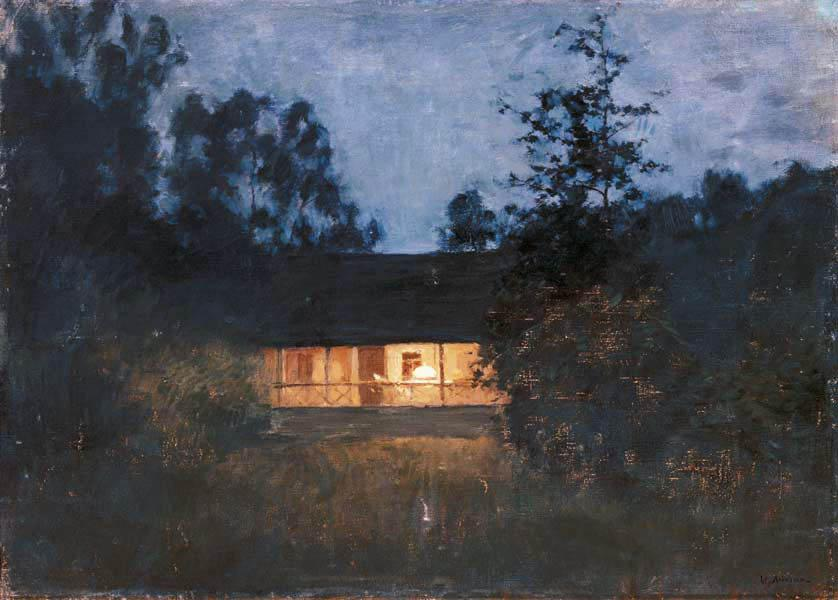 Country house at the twilight