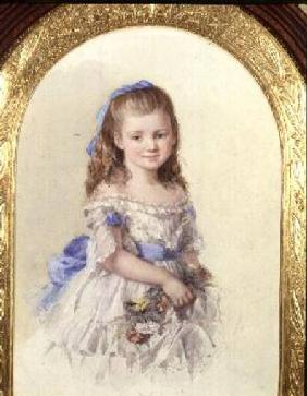 Portrait of Winifred Mary Bombass, aged ten