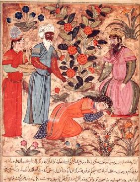 Fol.101 A Woman Beseeching the Sultan, from 'The Book of Kalila and Dimna' from 'The Fables of Bidpa
