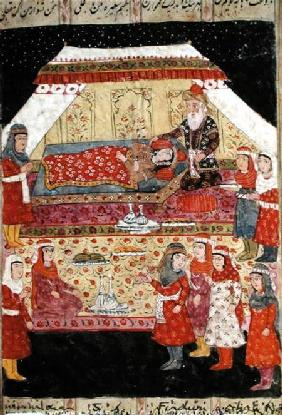 Harem Scene, illustration from the 'Shahnama' (Book of Kings)
