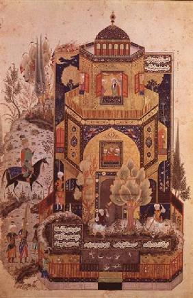 Khusrau in front of the Palace of Shirin