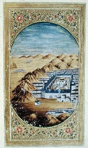 Mecca surrounded by the Mountains of Arafa