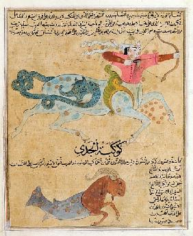 Ms E-7 fol.29b The Constellations of Sagittarius and Capricorn, illustration from ''The Wonders of t