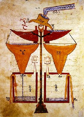 Water Balance, from ''Book of Knowledge of Ingenious Mechanical Devices'' Al-Djazari