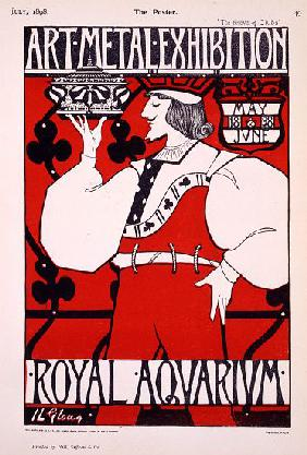 Poster for 'Art Metal Exhibition' at the Royal Aquarium