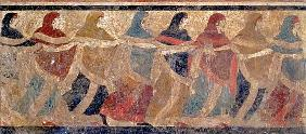 Women performing the funerary ceremonial chain dance, from Ruvo