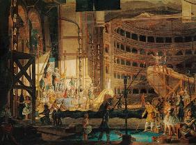 Preparing Scenery in a Theatre