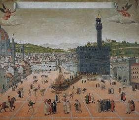 Savonarola Being Burnt at the Stake, Piazza della Signoria, Florence
