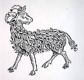 Aries (the Ram) an illustration from the 'Poeticon Astronomicon' by C.J. Hyginus, Venice