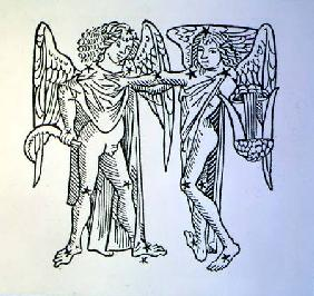 Gemini (the Twins) an illustration from the 'Poeticon Astronomicon' by C.J. Hyginus, Venice