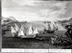Incident off Patras between the Venetian Captain Ivanovich da Dabrota and the Turkish Pirate Barbaro