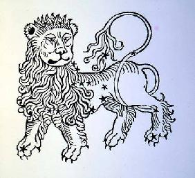 Leo (the Lion) an illustration from the 'Poeticon Astronomicon' by C.J. Hyginus, Venice
