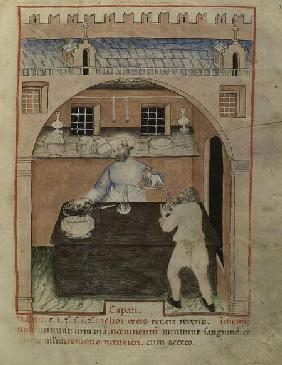 Nouv Acq Lat 1673 f.39 A Seller of Dried Meat