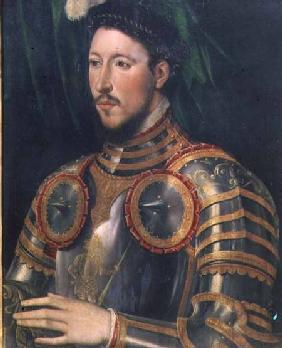 Portrait of a man wearing armour (panel)
