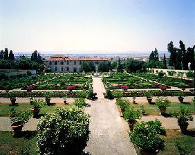 View of the Italian Garden, Villa di Castello (photo)