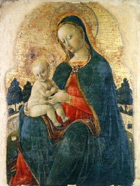 Madonna and Child in a Garden, Venetian Painter (panel)