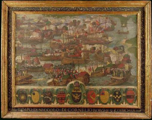 Battle of Lepanto 1571 Map Battle of Lepanto 1571