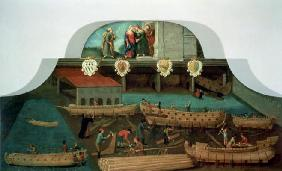 Sign of the Venetian Boat Builders' Guild, 1517 (panel)