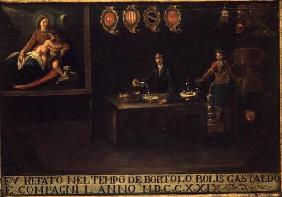 Sign of the Venetian Pharmacists' Guild, 1729 (panel)