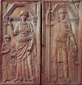 Diptych depicting Stilicho (c.365-408), Serena and Eucharius