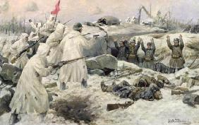 The Surrender of the Finns in 1940 (Russian-Finnish War), 1940 (oil on canvas)