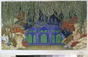 Stage design for the opera Sadko by N. Rimsky-Korsakov