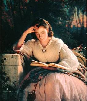 Reading (portrait of the artist's wife)
