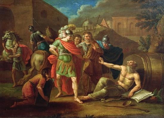 Alexander The Great Visits Diogenes At C Ivan