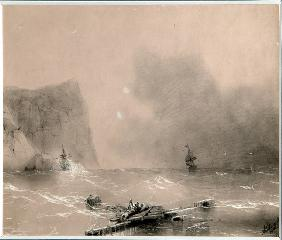 The disaster of the British fleet off the coast of Balaclava on November 14th, 1854
