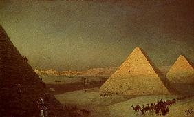 The pyramids of Gizeh.
