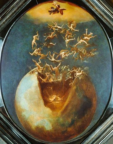 Jacob Isaacsz Swanenburgh - Pád Satana a anjelov