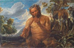 Satyr Playing the Pipe (Jupiter's Childhood)