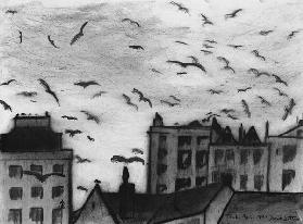 Tenby, 1994 (charcoal on paper)