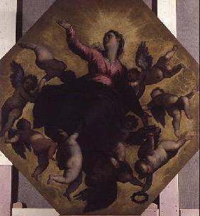Madonna Carried by Angels (ceiling fresco)