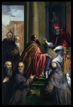 Pope Paul IV Handing over a Statute