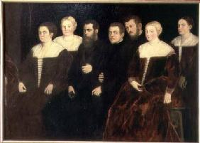 Seven members of the Soranzo Family