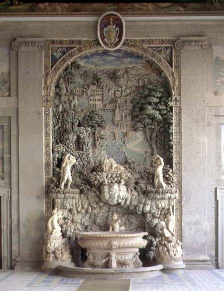 Fountain in the form of a grotto from th jacopo vignola for Ercole farnese 2017