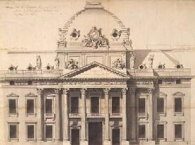 Design for the Ecole Militaire, Paris, 1751 (pen, brush