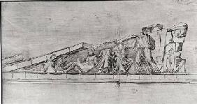 Study of the frieze from a pediment of the Parthenon